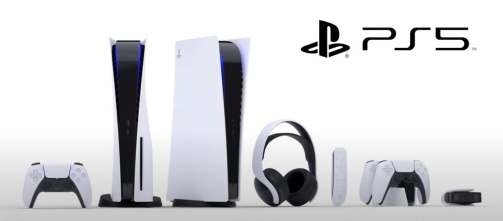 PS5 billede sammen med tilbehør
